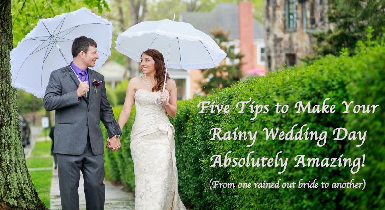Five Rainy Wedding Day Tips