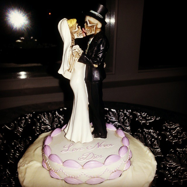 And seriously, could there be a more badass cake topper?