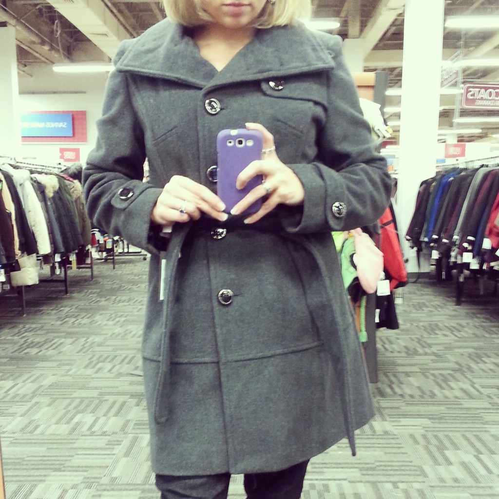 Mah new coat.