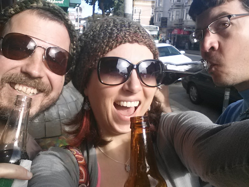 We hung out in the Haight Ashbury district and drank amazing rootbeer.  I will always remember this as the last time I truly laughed before my world fell apart. Daddy died only a few hours later.