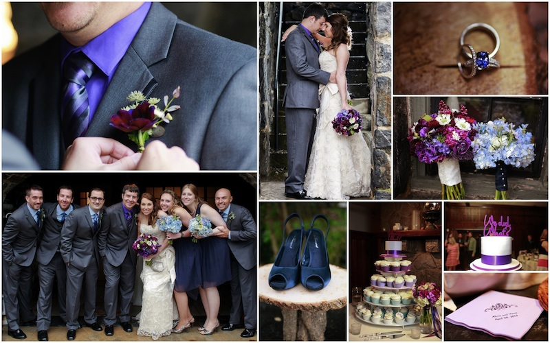 Purple Blue Wedding Collage Small